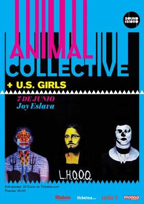 Animal Collective en Madrid el 7 de junio con U.S. Girls
