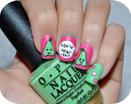 Nail Art - Peras Kawaii - Pear -fect