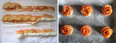 Rosas de manzana y hojaldre y Nueva Sección: