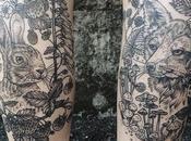 Tatuajes flora fauna reminiscencias grabados madera