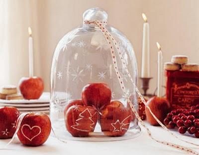 decorar con manzanas