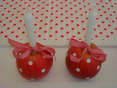 decorar con manzanas