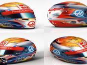 Grosjean presenta casco para temporada 2016