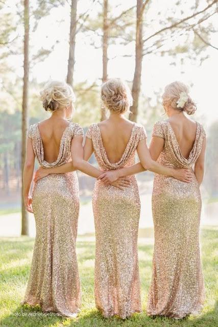 damas de honor glitter