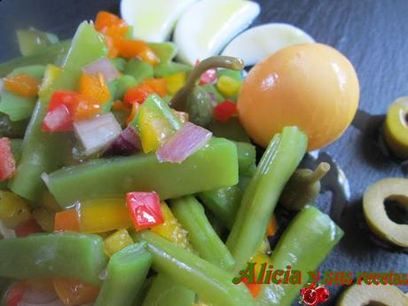 Ensalada de jud as verdes con picadillo de vegetales - Tiempo de coccion de judias verdes ...