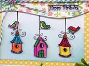 "Scrapbooking tarjeta: ""Happy Birthday"""