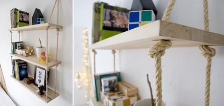 Diy baldas de cuerda y madera paperblog - Baldas de madera ...