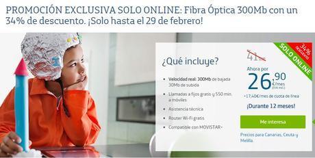 Movistar aún no se olvida de sus demás servicios, y todos los nuevos clientes que contraten fibra óptica obtendrán un considerable descuento por 12 meses