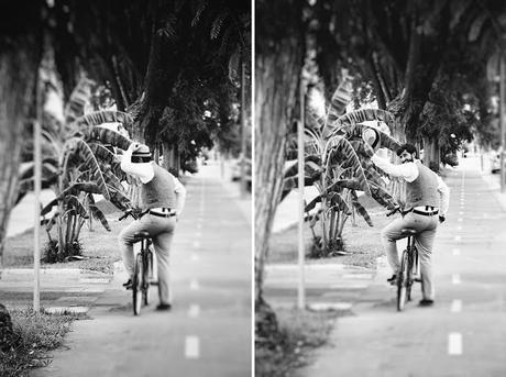 novio boda en bicicleta
