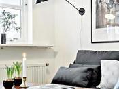 Sofá negro decoración actual