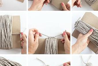 Como hacer borlas de lana para decorar pestillos de - Como hacer borlas de hilo ...