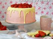Tarta crema fresas strawberry pastry cream layer cake