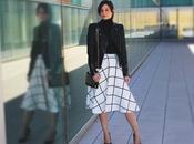 Faldas largas moda: midi skirt