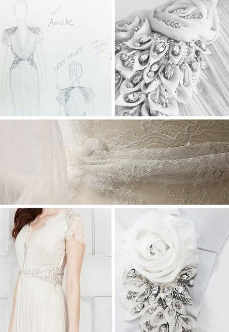 Tejidos de vestido de novia