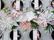 Hojas palmeras tropicales para decorar boda