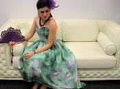Vestido lila verde para #evento