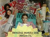 Revistas Marzo 2016 (Regalos, Suscripciones viene)