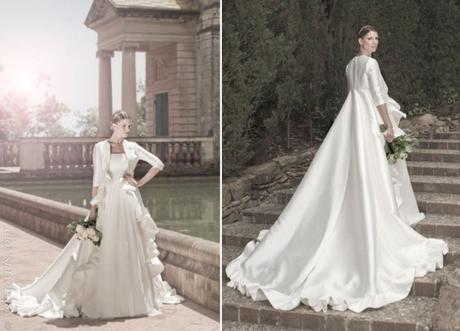 vestidos de novia con abrigo, ideales para bodas de invierno - paperblog