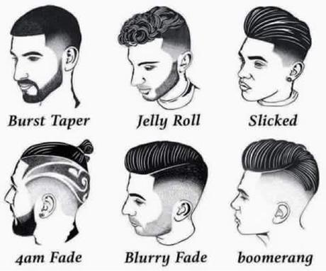 Black Barber Shop Haircuts Chart