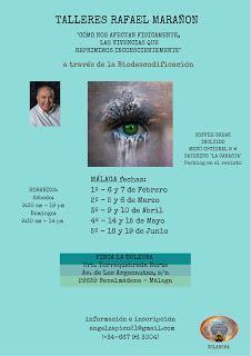 2º Taller de Biodescodificación, con RAFAEL MARAÑÓN, en Málaga. 5 Y 6 DE MARZO ``EXTREMIDADES INFERIORES´´