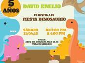 Hermosa tarjeta cumpleaños Fiesta Dino
