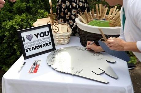 libro de firmas inspirado en star wars foto boda total