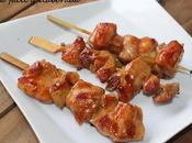Brochetas pollo teriyaki (cocina japonesa)