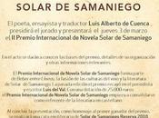 Presentación premio internacional novela solar samaniego