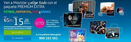 Movistar arremete para posicionar su servicio de tv de pago con su oferta Premium Extra por sólo 15,50 mensuales