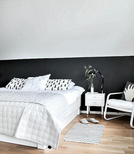 Un dormitorio EN BLANCO Y NEGRO con tocador! - Paperblog