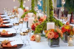Decoración de mesas para bodas de estilo rustico
