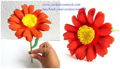 Como Hacer Flores En Goma Eva Paso A Paso Paperblog