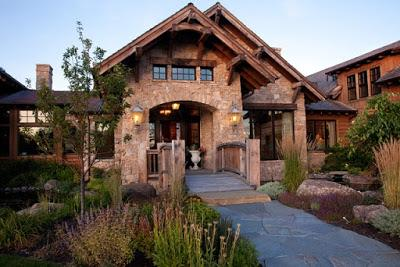 Casa de piedra y madera paperblog for Casas de piedra y madera