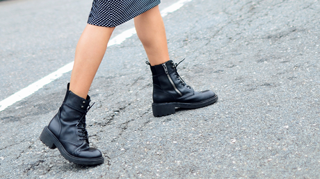 Combat boots street style