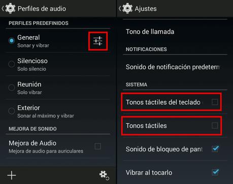 Activar sonido al pulsar Android