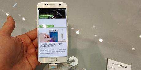 El Galaxy S7 Edge recibe una actualización importante el día de su lanzamiento