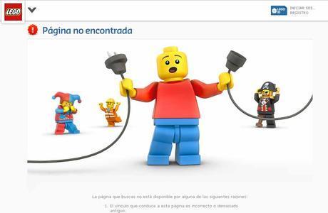 Lego página 404 personalizada