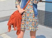 Vestido paisley chaleco denim