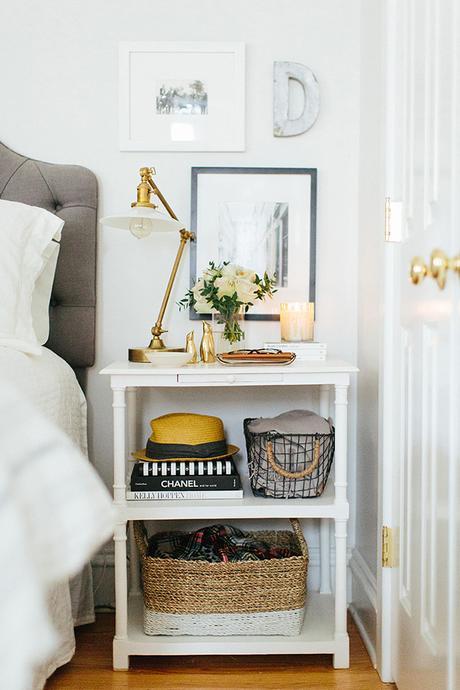 Un dormitorio con un cabecero de capiton paperblog - Cabecero capitone blanco ...
