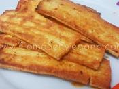 Tofu marinado plancha: estilo pincho moruno