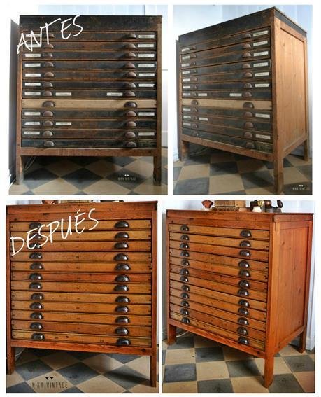Mueble en restauraci n mueble de imprenta o chibalete - Restauracion muebles valencia ...