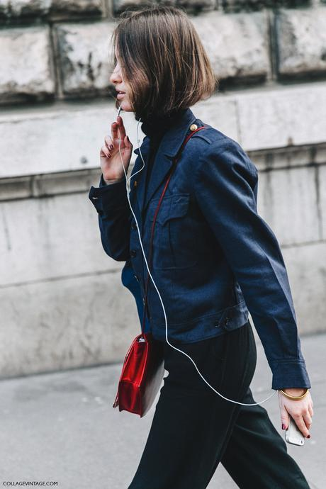PFW-Paris_Fashion_Week_Fall_2016-Street_Style-Collage_Vintage-Blue_Jacket--Red_Bag-3