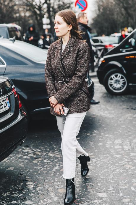 PFW-Paris_Fashion_Week_Fall_2016-Street_Style-Collage_Vintage-Stella_McCartney-White_Jeans-Belted_Jacket-