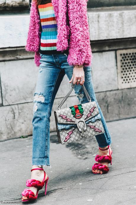 PFW-Paris_Fashion_Week_Fall_2016-Street_Style-Collage_Vintage-Chiara_Ferragni-Pink_Sandals-Gucci_Bag-1