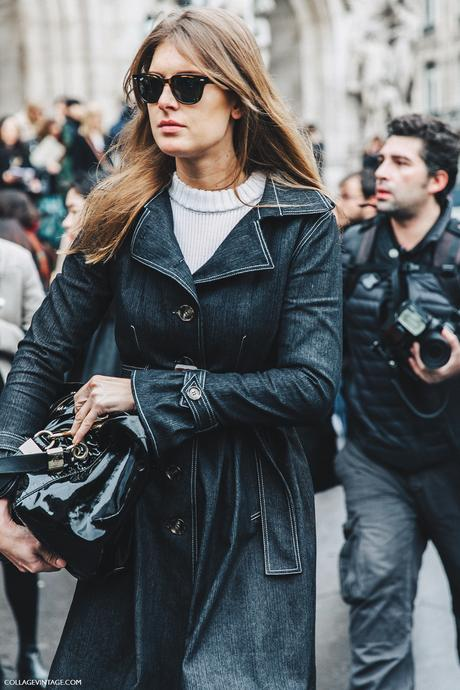 PFW-Paris_Fashion_Week_Fall_2016-Street_Style-Collage_Vintage-Stella_McCartney-Denim_Trench-