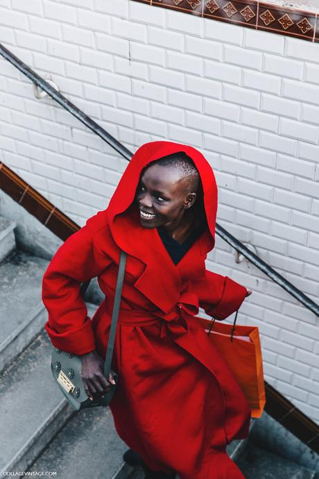 PFW-Paris_Fashion_Week_Fall_2016-Street_Style-Collage_Vintage-Red_Coat-Model-