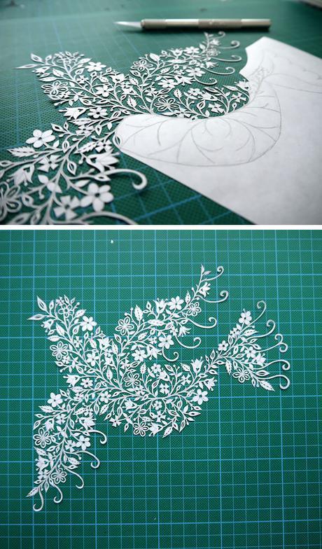 Papel y cúter, así es el arte papercut de Suzy Taylor