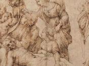Lamento sobre Cristo; pluma dibujo lápiz. Rafael Sanzio
