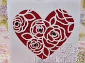 Silhouette Cameo Sobre para Invitaciones Flourish Heart