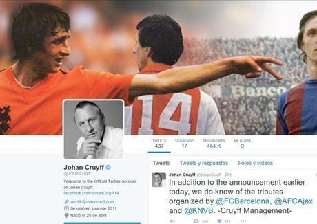 Muerte de Johan Cruyff